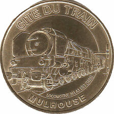 68 MULHOUSE CITÉ DU TRAIN LOCOMOTIVE MÉDAILLE MONNAIE DE PARIS 2012 JETON MEDALS