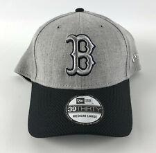 Boston Red Sox Baseball Hat New Era 39Thirty Gray Flannel Flex Medium-Large