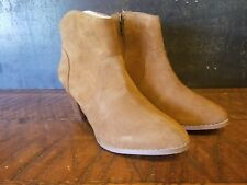 Urban Outfitters Westie Welt Cognac Brown Suede Zippered Heel Ankle Boots SZ 9