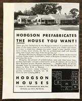1936 EF Hodgson Boston Print Ad Hodgson Prefabricates the House You Want