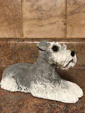 Sandicast Schnauzer Gray Dog Collectible Figurine 423