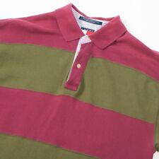90s Vintage TOMMY HILFIGER Striped Polo Shirt | Mens M | Retro Wavey Stripe 90s