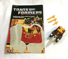 1987 G1 Transformers Technobots Computron Nosecone Figure Complete Cardback