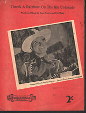 There's A Rainbow on the Rio Colorado 1942 Gene Autry Sheet Music