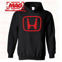 HONDA LOGO IN RED HOODIE BLACK Racing Motocross Hooded Sweatshirt Moto CBR