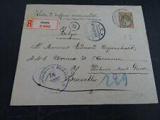 Nederland 70 op aangetekende brief Baarn - Brussel via Emmerich 1918