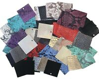 "Embossed Leather Scrap, 50 Vibrant 3""x3"" Pieces, Premium Cowhide Leather Scrap"