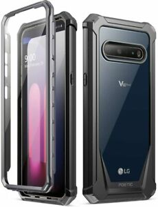 Poetic For LG V60 ThinQ Case, Dual Layer Shockproof Protective Cover Black