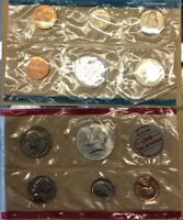 UNITED STATES MINT 1968 UNCIRCULATED COIN SET D AND P MINT MARKS No Envelope