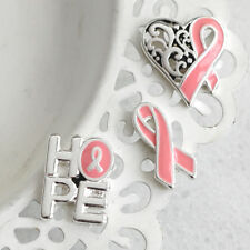 BREAST CANCER AWARENESS Pink Ribbon CURE HOPE FIGHT Pin Set - USA Seller