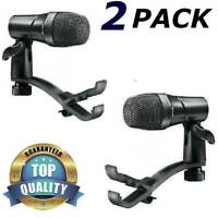 Mics For Drum Set Snare+Tom Floor Toms Cajon DRST 100+2 Drumset Microphone Clips