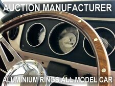 VW T2 Camper Bus 67-79 Polished Aluminum Chrome Dial Rings for Counter x3 Rings