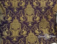 Chenille Renaissance damask  Decor Upholstery Purple Sold By  Yard 58""