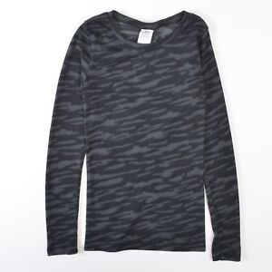 Under Armour Cozy Waffle Fitted All Season Camo Thermal Shirt Gray Womens XS