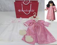 American Girl Pleasant Company Samantha NIGHTGOWN KIMONO & SLIPPERS Pajamas Bag