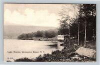 Livingston Manor NY, Lake Waneta, New York Vintage Postcard