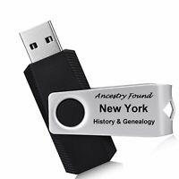 NEW YORK - History & Genealogy - 163 Books on FLASH DRIVE USB - Ancestors, NY