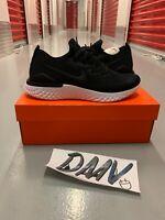 New Nike Epic React Flyknit 2 'Black White' Size US 10.5 (BQ8928-002)