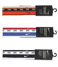 Nike Mixed Width Headband Running 3Pk Hairband Black Red Orange Bands Ac4453-930