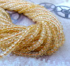 Strand of 125 Citrine Faceted Rondelle Gemstone Beads AAA Grade