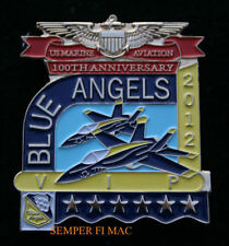 2012 VIP BLUE ANGELS US MARINES AVIATION 100TH HAT PIN USS WING BR F18 HORNET