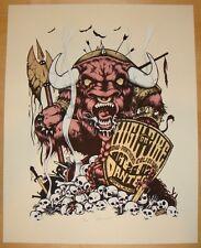 2007 High on Fire - Portland Silkscreen Concert Poster S/N by Billy Perkins