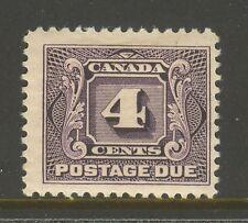 Canada #J3, 1928 4c Postage Due - First Postage Due Series, Unused Hinge Remnant