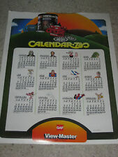 Viewmaster View Master large poster 1978 calendar rare, Dates match 2017!