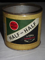 VINTAGE BURLEY & BRIGHT HALF AND  HALF  BOWL OF ANY PIPE TOBACCO TIN