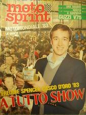 Motosprint 49 1983 Test Guzzi V75 - Freddie Spencer casco d'oro 1983