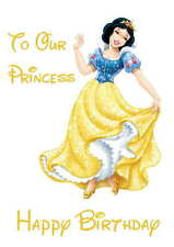 Disney Inspired Snow White Personalised Hand Made Printed Card