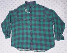 Polo Country Ralph Lauren Mens Plaid Flannel Sportsman Shirt BigTall Green Multi
