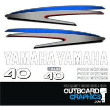 Yamaha 40hp 4 stroke outboard engine decals/sticker kit