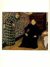 """1974 Vintage VUILLARD """"MOTHER and SISTER OF THE ARTIST"""" COLOR offset Lithograph"""