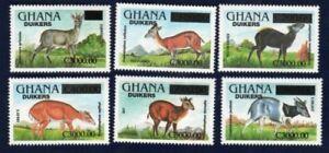 Ghana 2006 - Antelopes Revalued Ovpt Stamp Sets - MNH