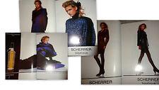 Vtg clippings Jean Lous Scherrer Boutique ads French Vogue Paris fashion perfum