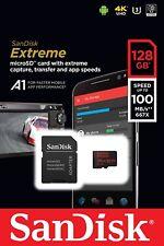 SanDisk 128GB microSD SDHC Extreme 100MB/s 4K U3 A1 128G microSDHC SDSQXAF-128G