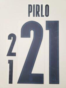 2021/2022 Italy Euro 2020 #21 PIRLO Away Soccer Name Set