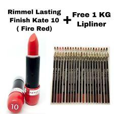RIMMEL LASTING FINISH KATE LIPSTICK 10 FIRE RED X5 (SAMPLE CASE) FREE 1 LIPLINER