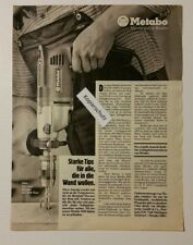 Werbeanzeige/advertisement A4: Metabo Duotronic Sb EDV 1000/2 1981 (110416158)