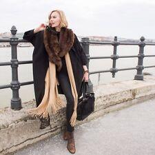 Zara Brown Faux Fur Stole Scarf Soft BNWT