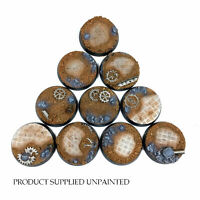 Ruined Factory - Round Resin Bases 32mm - 10 detailed bases for Warhammer 40K