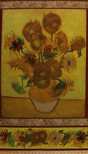 "24.25"" X 44"" Panel Van Gogh Museum Sunflowers Floral Cotton Fabric Panel D774.47"