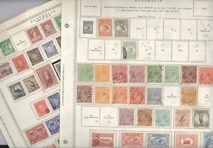 AUSTRALIA, Excellent assortment of Stamps hinged on Minkus pages