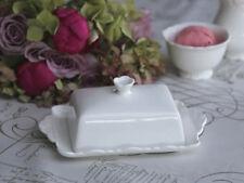 Nostalgie Butterdose Provence Shabby Chic Antique weiß Porzellan Landhaus