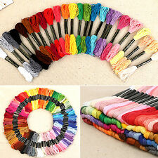 Lots 50 Cotton Cross Floss Stitch Thread Embroidery Sewing Skeins Multi Colors W