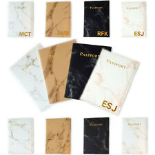 Personalised Marble Passport Cover Holder Protector Customised Holiday Travel