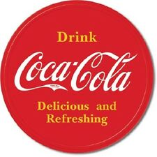 Coca Cola Coke Button Logo Advertising Vintage Retro Style Metal Tin Sign New