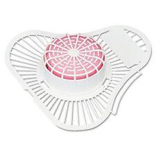 NEW 12 Krystal Urinal Screens with Para Deodorizer Block Cherry Fragrance 12/Box