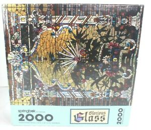 Springbok Jigsaw Puzzle Glorious Glass 2000 Pieces Stained Glass Art New Sealed